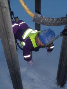 Det är jobbigt att leka i snön :-)
