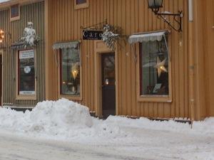 Salong Care i ett vintrigt Nora