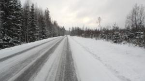Härligt vinterlandskap