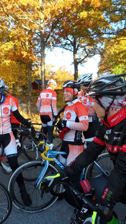 Camilla N var dagens mest påpälsade cyklist ;)