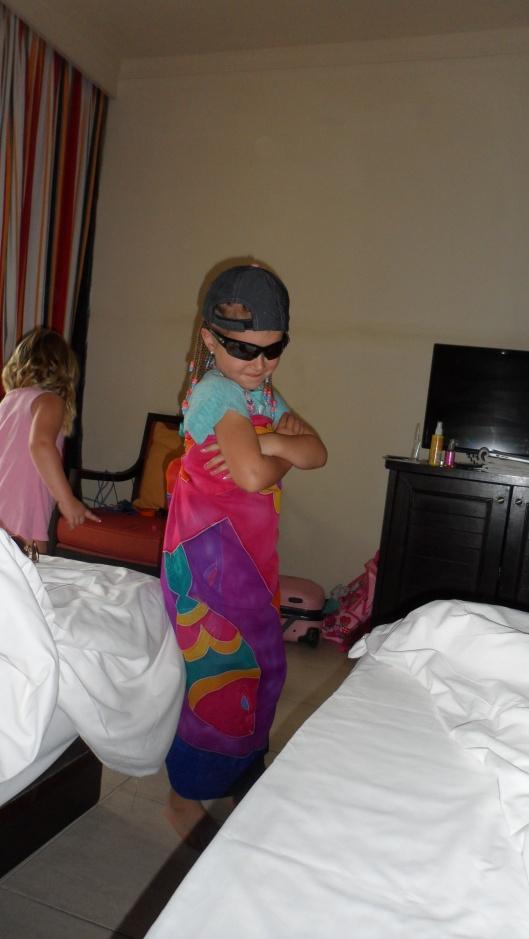 Ibland fick vi privat show på hotellrummet ;)