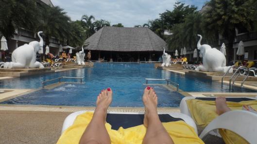 Den obligatoriska fot-bilden vid poolen