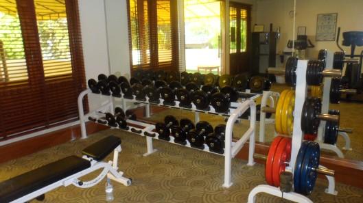 Helt ok utrustat gym faktiskt! Och klockan 7 på morgonen var det helt oväntat ingen trängsel heller...